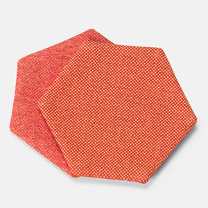 POLYGON COASTER HEXAGON - RED / PINK