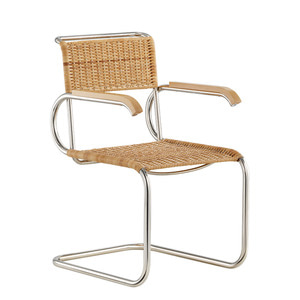 D40 BAUHAUS CANTILEVER CHAIR WITH ARMRESTS - NATURAL (바로배송)