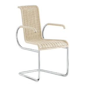 D22 CANTILEVER CHAIR WITH ARMRESTS - CREAM WHITE (바로배송)