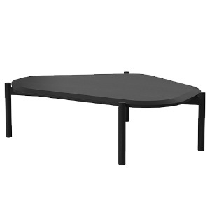 ISLAND COFFEE TABLE - BLACK STAINED OAK