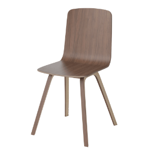 PALM VENEER DINING CHAIR - OILED WALNUT (디스플레이 상품)