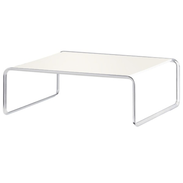 K1B OBLIQUE COUCH TABLE -CREAM WHITE 86cm