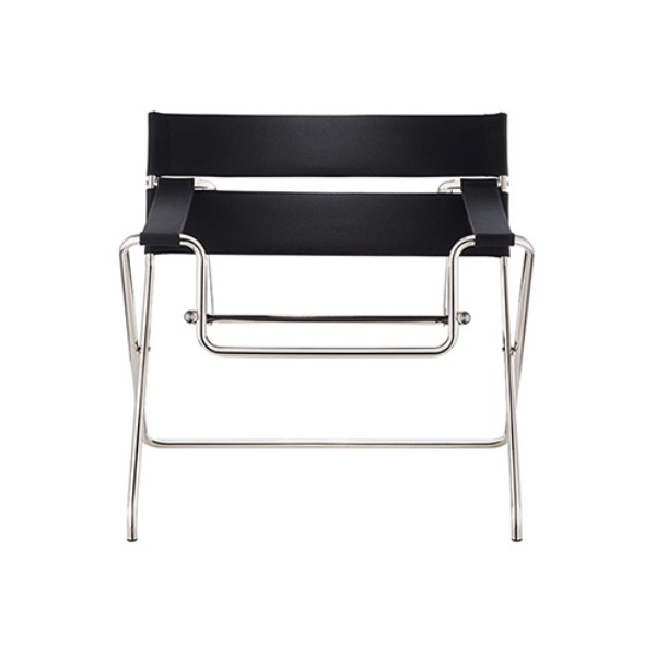 D4 BAUHAUS CHAIR - BLACK / LEATHER 1
