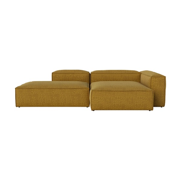 COSIMA 2 UNITS WITH CHAISE LONGUE LARGE RIGHT AND OPEN END LEFT GLOBA - CURRY