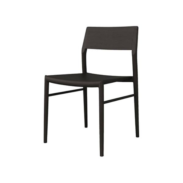 CHICAGO DINING CHAIR - BLACKSTAINED ASH