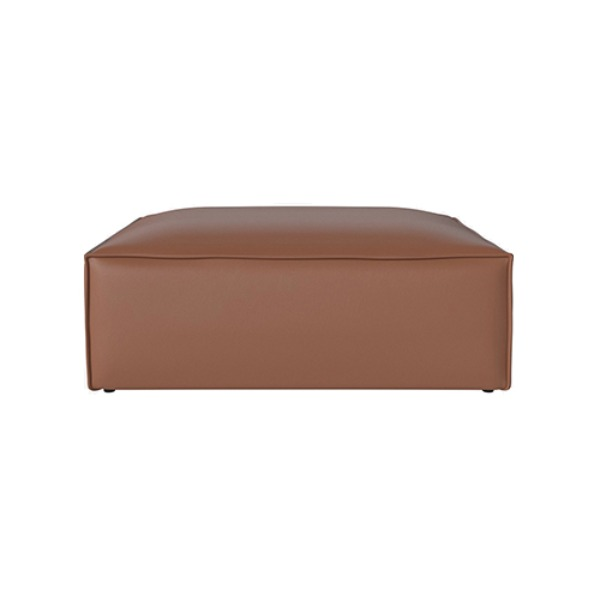 COSIMA POUF LARGE QUATTRO TRACEABLE - LEATHER COGNAC (도산점 재고문의)