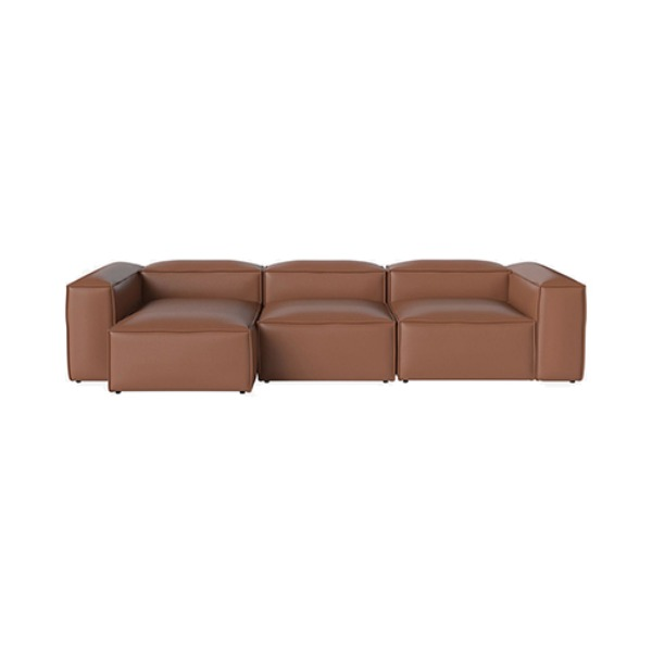 COSIMA 3 UNITS CHAISE LONGUE LEFT QUATTRO TRACEABLE - COGNAC (도산점 재고문의)