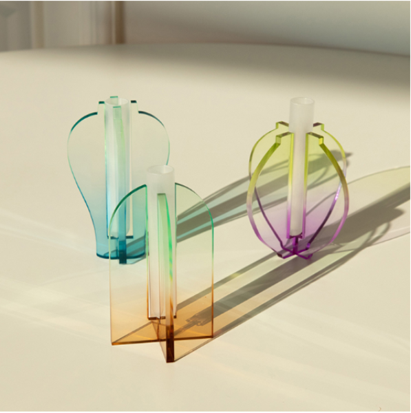 MINI ACRYLIC VASE SERIES (3 COLORS)