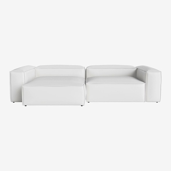 COSIMA 2 UNITS WITH CHAISE LONGUE LARGE AND CORNERUNIT LARGE QUATTRO TRACEABLE - WHITE