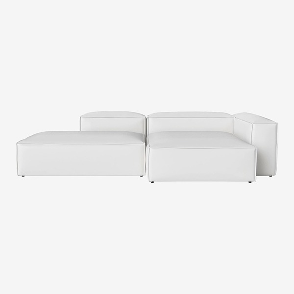 COSIMA 2 UNITS WITH CHAISE LONGUE LARGE AND OPEN END QUATTRO TRACEABLE - WHITE