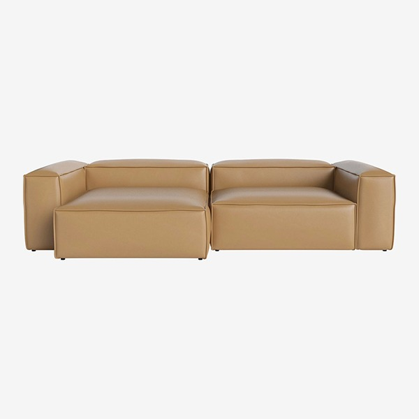 COSIMA 2 UNITS WITH CHAISE LONGUE LARGE AND CORNER UNITS LARGE QUATTRO TRACEABLE - NOUGAT