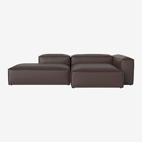 COSIMA 2 UNITS WITH CHAISE LONGUE LARGE AND OPEN END QUATTRO TRACEABLE - BROWN