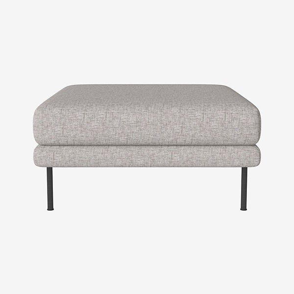 JEROME POUF - NANTES / MULTI GREY