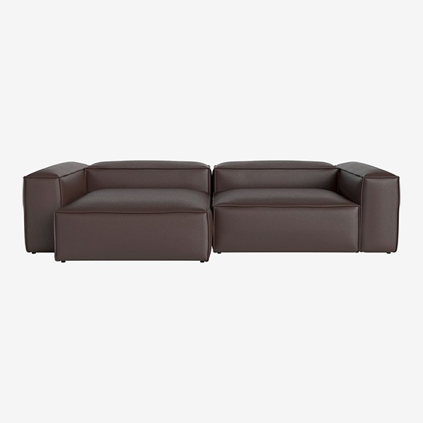 COSIMA 2 UNITS WITH CHAISE LONGUE LARGE AND CORNER UNITS LARGE QUATTRO TRACEABLE - BROWN