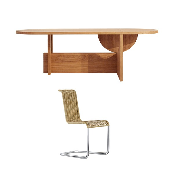 [PROMOTION] TECTA LOT TABLE (FIXED) + B20 CHAIR (4EA)